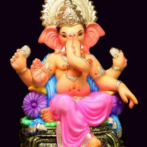 Aasan 2.5 Feet Eco Friendly Paper Ganesha - Green