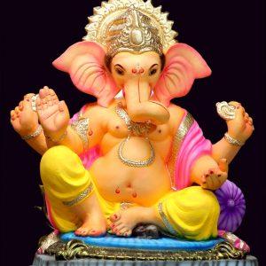 Shree Ganesh 2.5 Feet Eco Friendly Paper Ganesha - Green