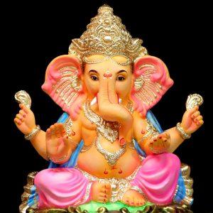 Maisuri Dagina 2.5 Feet Eco Friendly Paper Ganesha - Pink