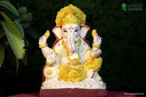 Eco friendly haldi Ganesha